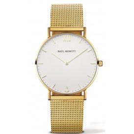 Paul Hewitt Horloge Sailor White Sand goudkleurig PH-SA-G-SM-W-4S