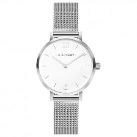 Paul Hewitt PH-SA-S-XS-W-45S Horloge Sailor Line Modest White Sand zilverkleurig 28 mm