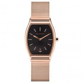 Paul Hewitt PH-T-R-BS-4S Horloge Tonneau Line Black Sunray rosekleurig-zwart 30 mm