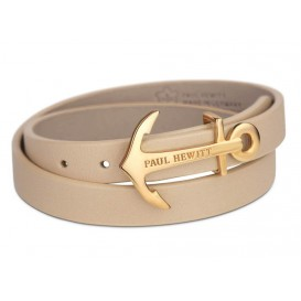 Paul Hewitt Armband North Bound Wrap Steel gold-hazelnut 42,5 cm PH-WB-G-22M