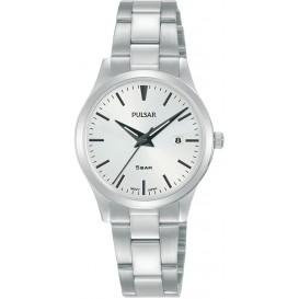 Pulsar PH7539X1 Horloge staal zilverkleurig-wit 28 mm