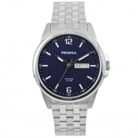 Prisma P.1664 Herenhorloge Pattern Blue 39 mm