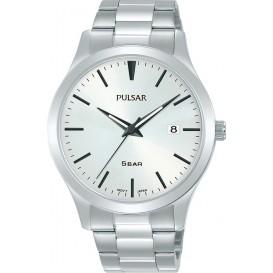Pulsar PS9665X1 Horloge staal zilverkleurig-wit 40 mm