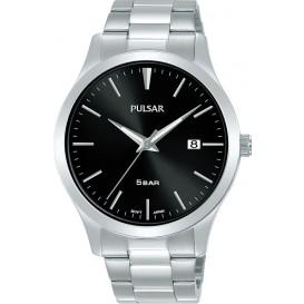 Pulsar PS9669X1 Horloge staal zilverkleurig-zwart 40 mm