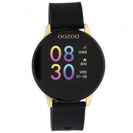 OOZOO Smartwatch Q00120 staal/siliconen goudkleurig-zwart 43 mm