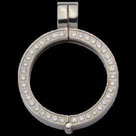 Quoins QHO-09S-E Hanger staal zilverkleurig met zirconia Small
