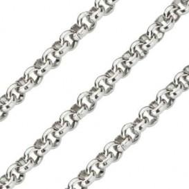Quoins Ketting staal zilverkleurig Jasseron 70 cm QK-EN1