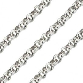 Quoins Ketting staal zilverkleurig Jasseron 70 cm QK-EN