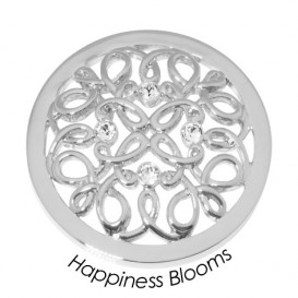 Quoins Disk Happiness Bloom staal zilverkleurig Large QMB-57L-E
