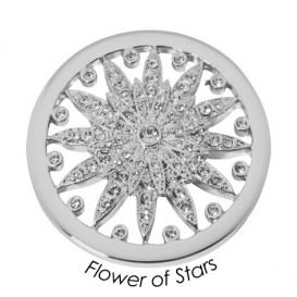 Quoins Disk QMB-66L-E Flower of Stars staal zilverkleurig (L)