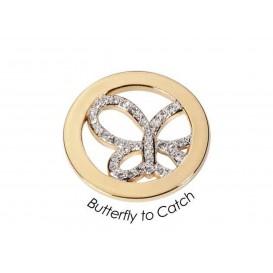 Quoins Disk Butterfly to catch staal zilverkleurig Medium QMOA-10M-E
