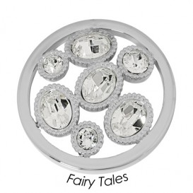 Quoins Disk Fairy Tails staal zilverkleurig Large QMOK-14L-E-CC