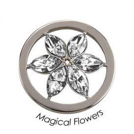 Quoins Disk Magical Flower staal zilverkleurig Medium QMOK-15M-E-CC