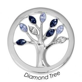 Quoins Disk Diamond Tree staal zilverkleurig Large QMOK-19L-E-BL
