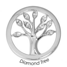 Quoins Disk Diamond Tree staal zilverkleurig Large QMOK-19L-E-CC