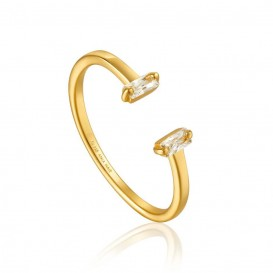 Ania Haie R018-04G Ring Glow Adjustable goudkleurig One Size