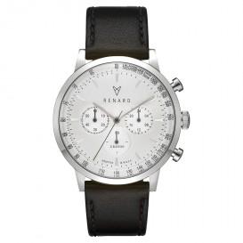 Renard Horloge RC402SS10VBK Grande Chrono staal/leder white-silver-Veau black