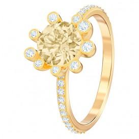 Swarovski 5482714 Ring Olive goudkleurig Multicolor Maat 52