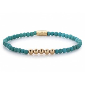 Rebel and Rose Armband Turquoise Delight turquoise-rosé 4 mm 16,5 cm RR-40026-R-S