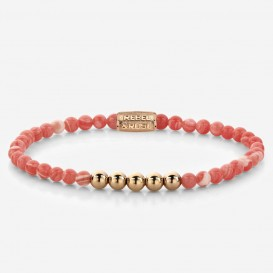 Rebel and Rose RR-40032-R-XS Armband Coral Beach coral-rose 4 mm 15 cm