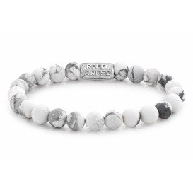 Rebel and Rose Armband Mad Virgin White 8 mm 19 cm RR-80030-S