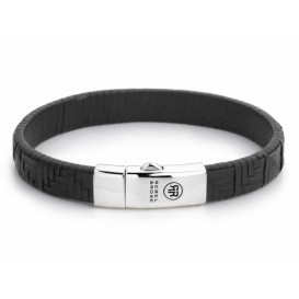 Rebel and Rose Armband Woven Stacked Black 19,5 cm RR-L0053-S