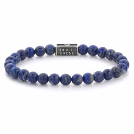 Rebel and Rose RR-6S002-S-S Armband Lapis Lazuli 925 6 mm 16,5 cm