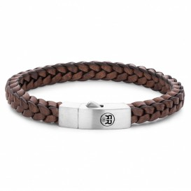 Rebel and Rose RR-L0082-S-L Armband Braided Square 925 Earth 21 cm