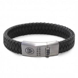 Rebel and Rose RR-L0084-S-L Armband Braided Flat 925 Black-Earth 21 cm