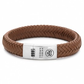 Rebel and Rose RR-L0088-S-L Armband Braided Oval Handsome in khaki 21 cm
