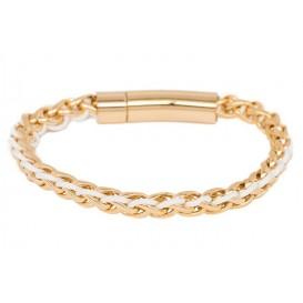 IXXXI Armband Geneva staal goudkleurig-wit S05502-190-01