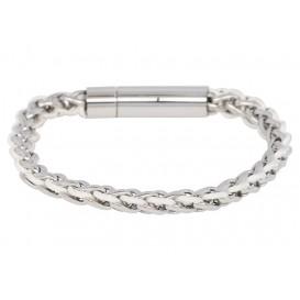 IXXXI Armband Geneva staal zilverkleurig-wit S05502-190-03