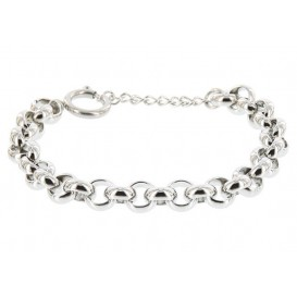 IXXXI Armband Dakar Jasseron staal zilverkleurig 17-20 cm S0570199003