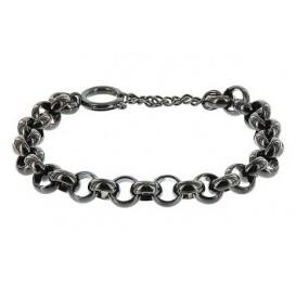 IXXXI Armband Dakar Jasseron staal zwart 17-20 cm S0570199005