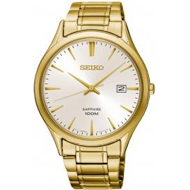 Seiko Herenhorloge Staal/Saffierglas goudkleurig SGEH72P1