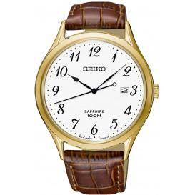 Seiko Herenhorloge goudkleurig SGEH78P1