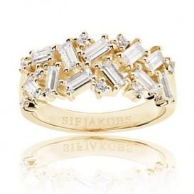 Sif Jakobs SJ-R0463-CZ-YG Ring Antella zilver goudkleurig Maat 58