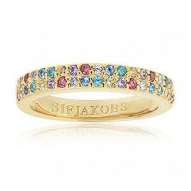 Sif Jakobs SJ-R10762-XCZ-YG Ring Corte Due zilver goudkleurig Maat 52