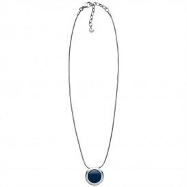 Skagen SKJ1194040 Ketting Sea Glass Cobalt Circle staal-glas zilverkleurig-blauw 40-45 cm-1