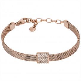 Skagen SKJ1404791 Armband Elin Glitz staal-kristal rosekleurig-wit 16,5-19 cm
