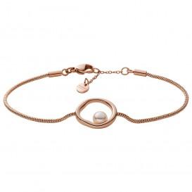 Skagen SKJ1441791 Armband Agnethe staal-glasparel rosekleurig-wit 17-19 cm
