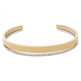 Skagen SKJ1448998 Armband Cuff Elin staal-kristal goud-en zilverkleurig-wit 55 mm