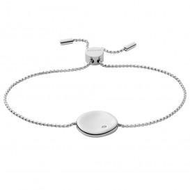 Skagen SKJ1456040 Armband Kariana staal-kristal zilverkleurig-wit 16,5-21,5 cm