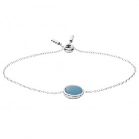 Skagen SKJ1461040 Armband Sea Glass staal-glas zilverkleurig-blauw 16,5-21,5 cm