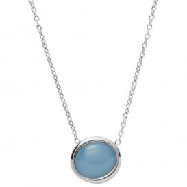 Skagen SKJ1462040 Ketting Sea Glass staal-glas zilverkleurig-blauw 40-47 cm