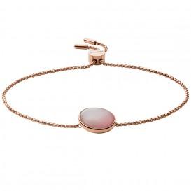 Skagen SKJ1470791 Armband Agnethe staal-glas-parelmoer rosekleurig-roze 15,5-21,5 cm
