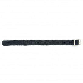 SOS SOSNY Horlogeband nylon zwart 16 mm