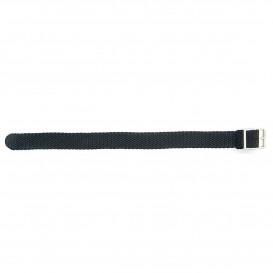 SOS SOSNY Horlogeband nylon zwart 12 mm