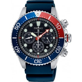 Seiko Horloge Prospex Padi Chronograaf staal/siliconen blauw SSC663P1