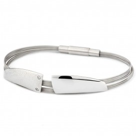 YO DESIGN T0962 Armband Orion zilver-staal zilverkleurig 19 cm